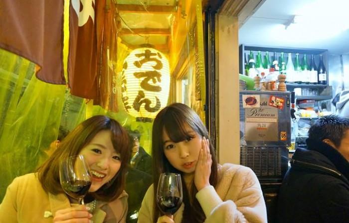 ワインで上機嫌♪