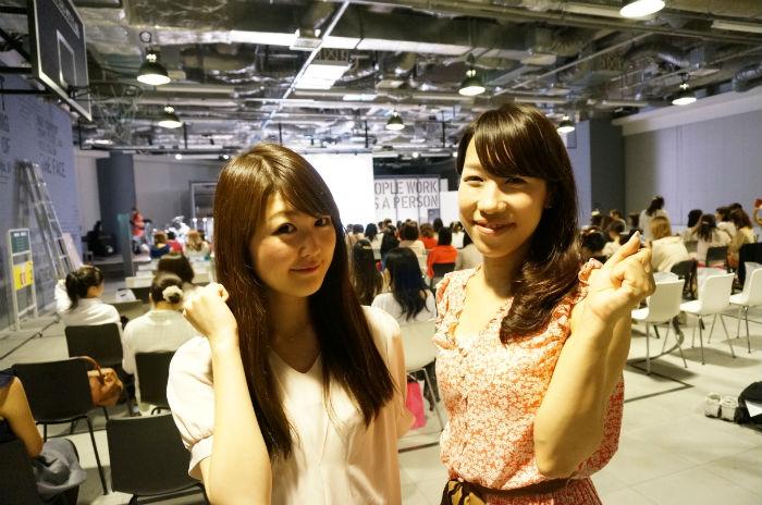 気合い十分の二人。左が花田さん、右が櫻井さん