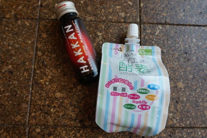 左:燃焼系ドリンクHAKKAN(税込¥410)/右:LAVA式ダイエット酵素(税込¥470)