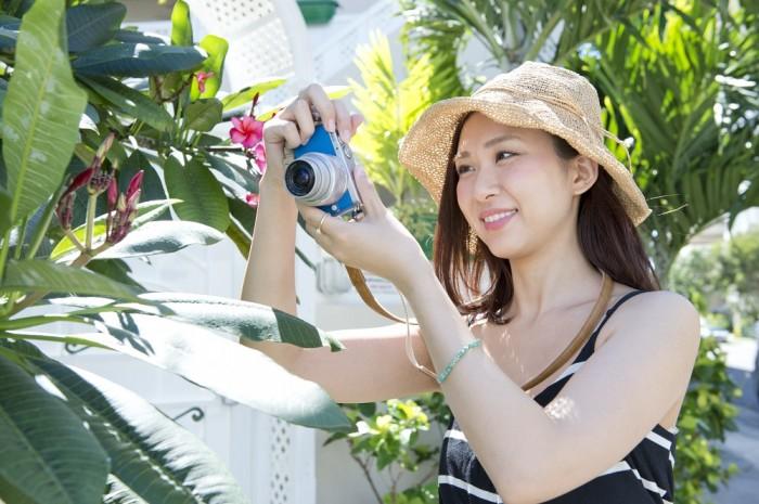 愛用カメラは『LUMIX』GM1S。小さめのバッグにも入るコンパクトなボディと、ブルーのカラーリングがお気に入り!
