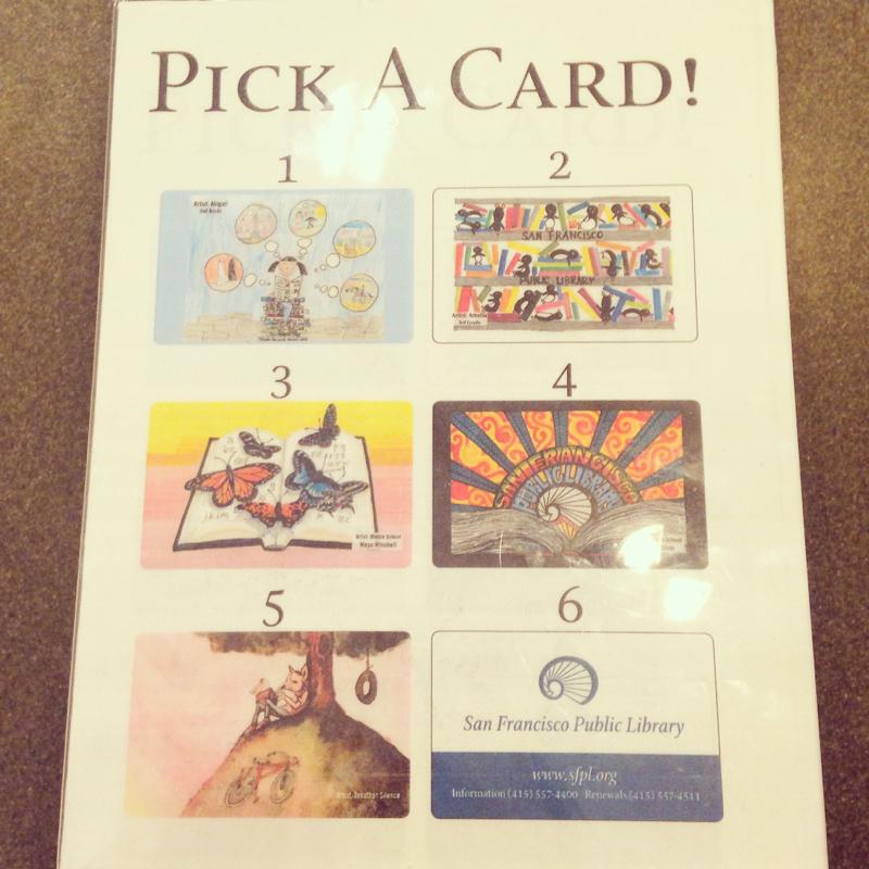 図書館カード。
