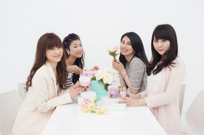 右から、平田未久さん(No.56)、新宮志歩さん(No.191)、前田晴香さん(No.137)、Shinoさん(No.148)。