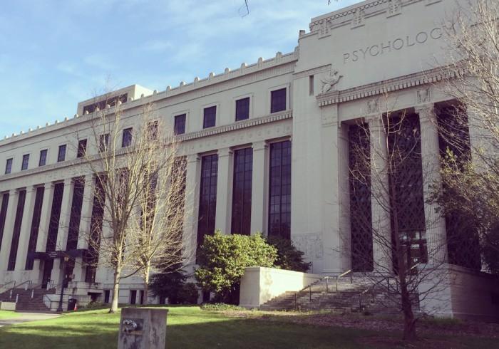 カリフォルニア大学バークレー校の心理学部。今の私には神々しすぎて…。