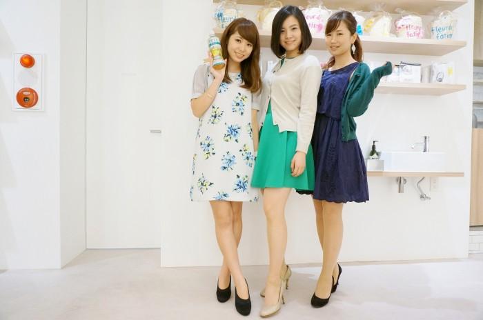 左から片桐 優妃さん(No. 115)、迫屋 奈津美さん(No. 198)、尾谷 萌さん(No. 63)。