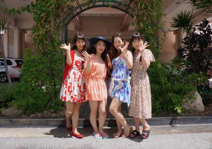 左から、斉井夕絵さん(no.34)、遠藤朋美さん(no.65)、尾谷萌さん(no.63)、吉田まりみさん(no.153)。