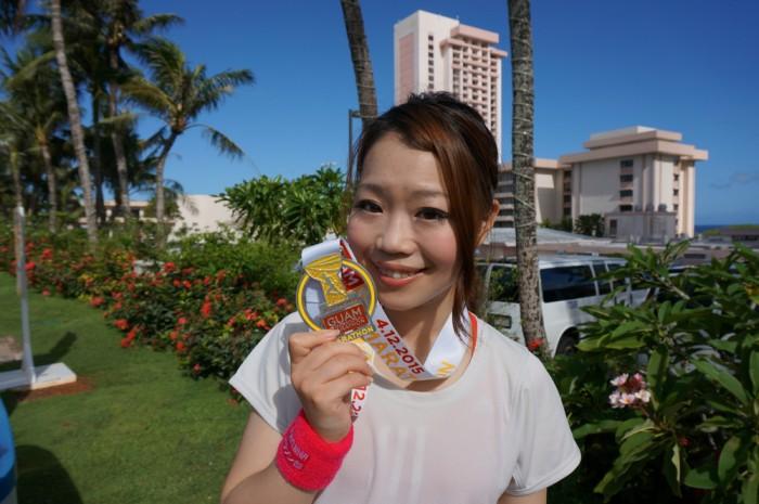 遠藤朋美さん。なんと20歳代女性で3位(銅メダル)!。