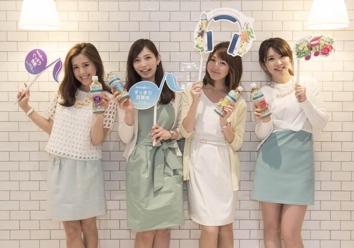 左から、黒田麻理耶さん、福塚愛さん、花田浩菜さん、井上あずささん。