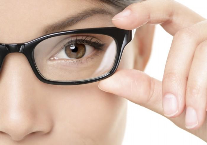 Eyewear glasses woman closeup portrait