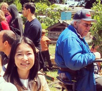 """食育の一環で実際に野菜やフルーツを学生が育てて調理するという、校内の食べられる庭""""Edible Schoolyard""""を訪ねました。"""