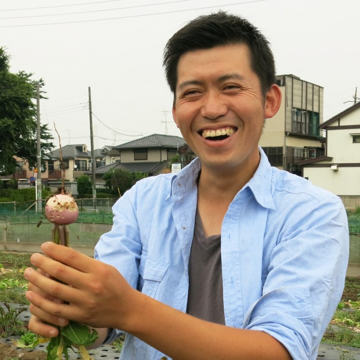 加藤農場の加藤博久さん。
