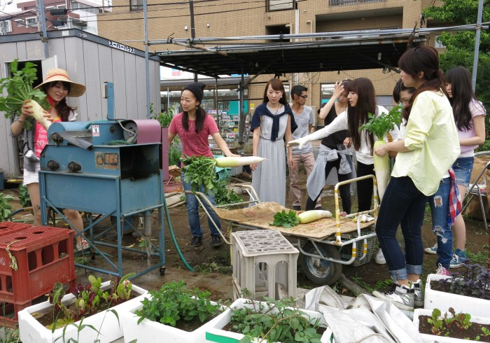 大根の洗浄をするのは、平田未久さん(No.56)。