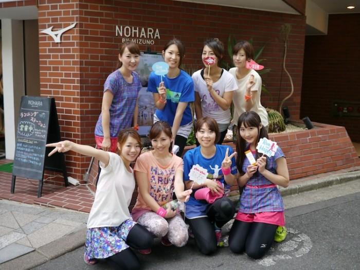 今回の原宿RUN&BBQイベントに参加したanan総研マラソン部メンバーたち