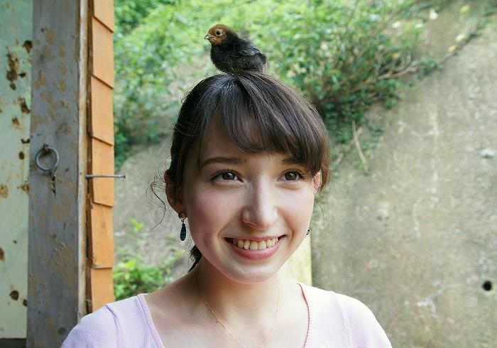 平山旅館のヒヨコちゃん。