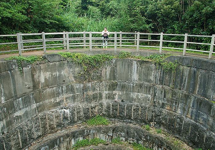 東洋一の大きさ。黒崎砲台跡。