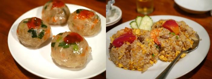 カンボジア風海老大根もちと五目炒飯