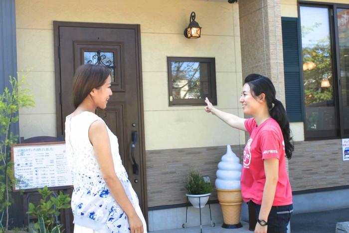 入り口はお家の扉のようなつくりで、気軽に入りやすい雰囲気。