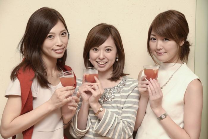 左から上野仁美さん(no.27)、原田あかねさん(no.113)、花田浩菜さん(no.60)