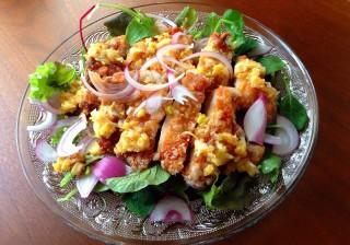 誰でも料理上手!なモテレシピ♪ Vol.5サラダ仕立ての油淋鶏