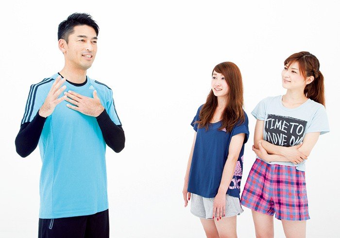 杉坂理恵さん「ちょい運動で美乳になりたい!」Shinoさん「アミノ酸を摂るなら運動前がいいんだ。」吉田トレーナー「日常生活の中にもトレーニングのチャンスがたくさん。」