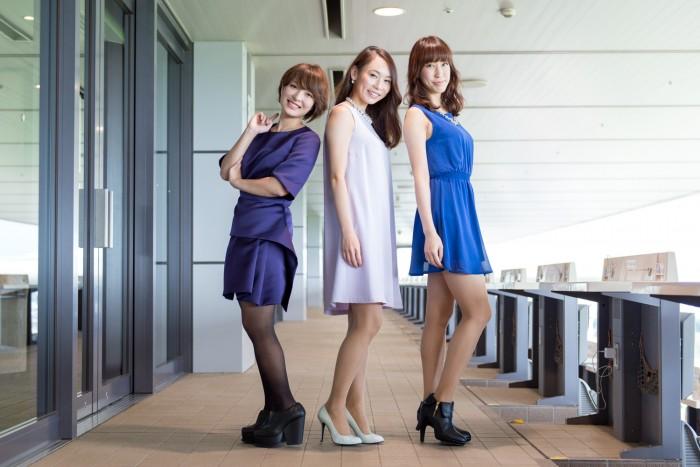 左から、仲肥朝美さん(No.163)、平沢由貴さん(No.75)、江本静華さん(No.61)。