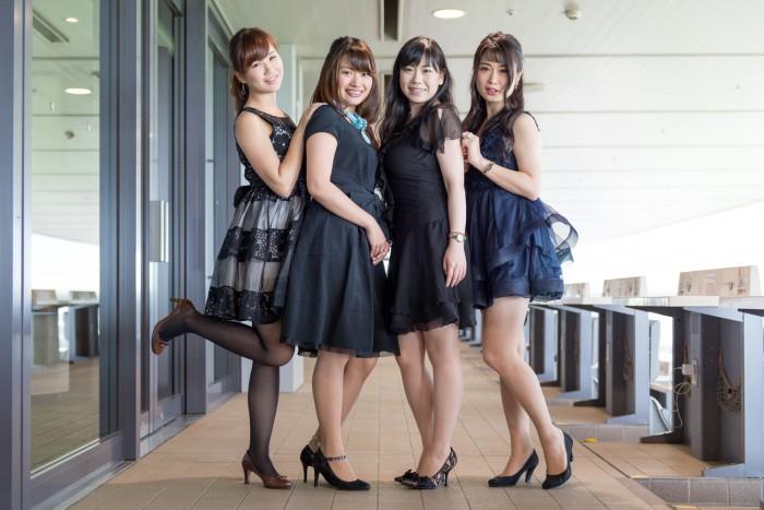 左から、尾谷萌さん(No.63)、山田絢加さん(No.220)、高橋里佳さん(No.93)、鈴木玲奈さん(No.128)。