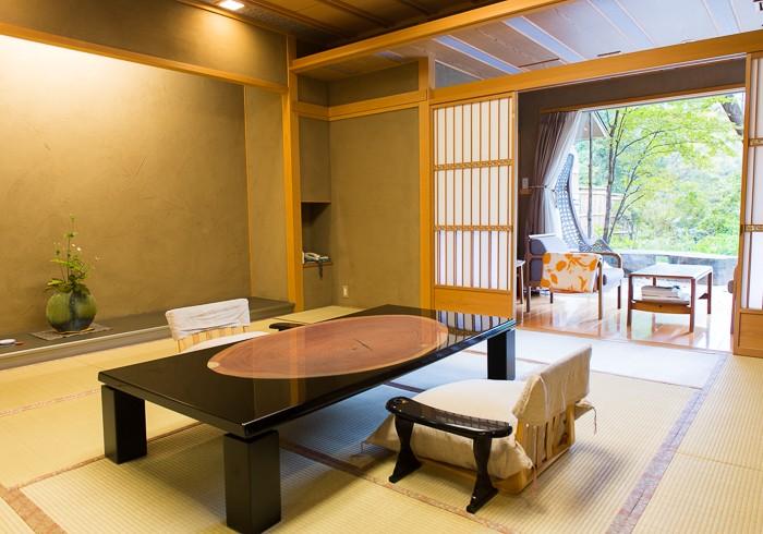 客室は全室露天風呂付き!