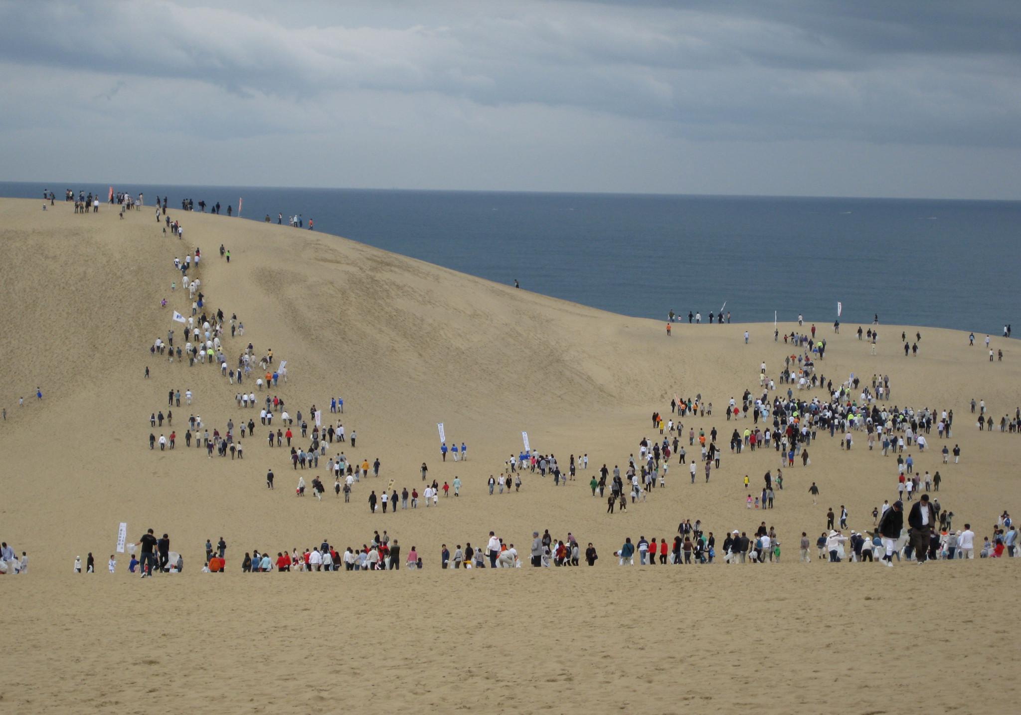 いまも少しずつ広がっている鳥取砂丘。