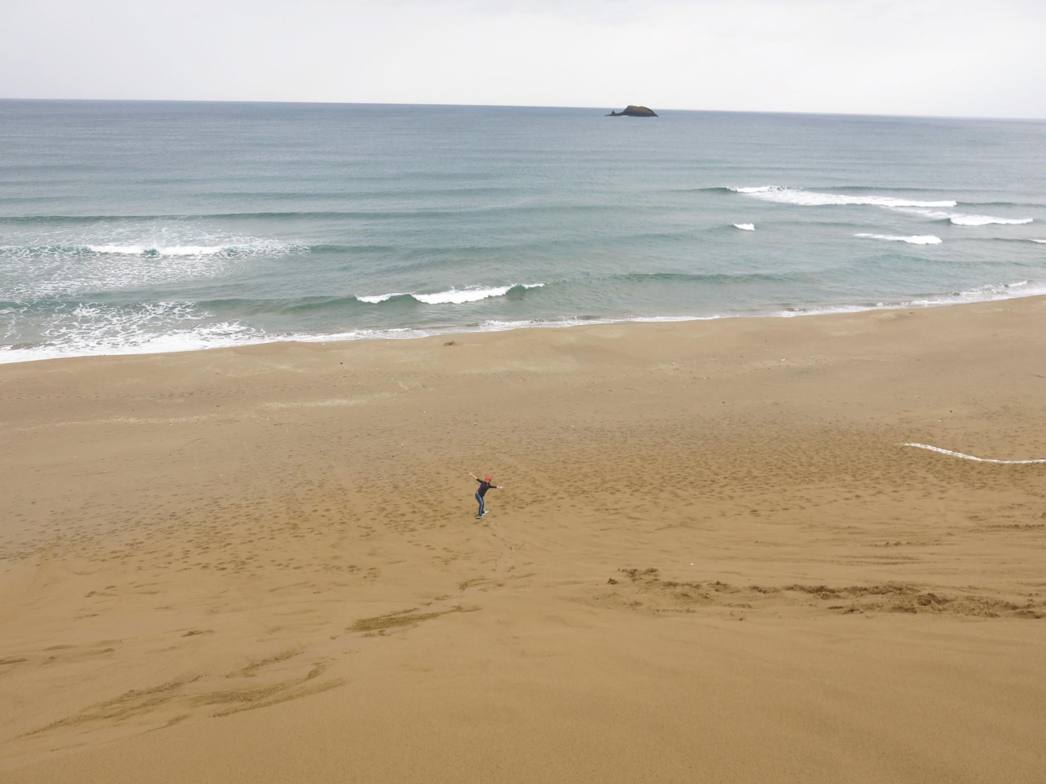 海岸まで一直線。