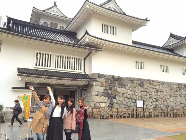 ゴール近くには富山城。