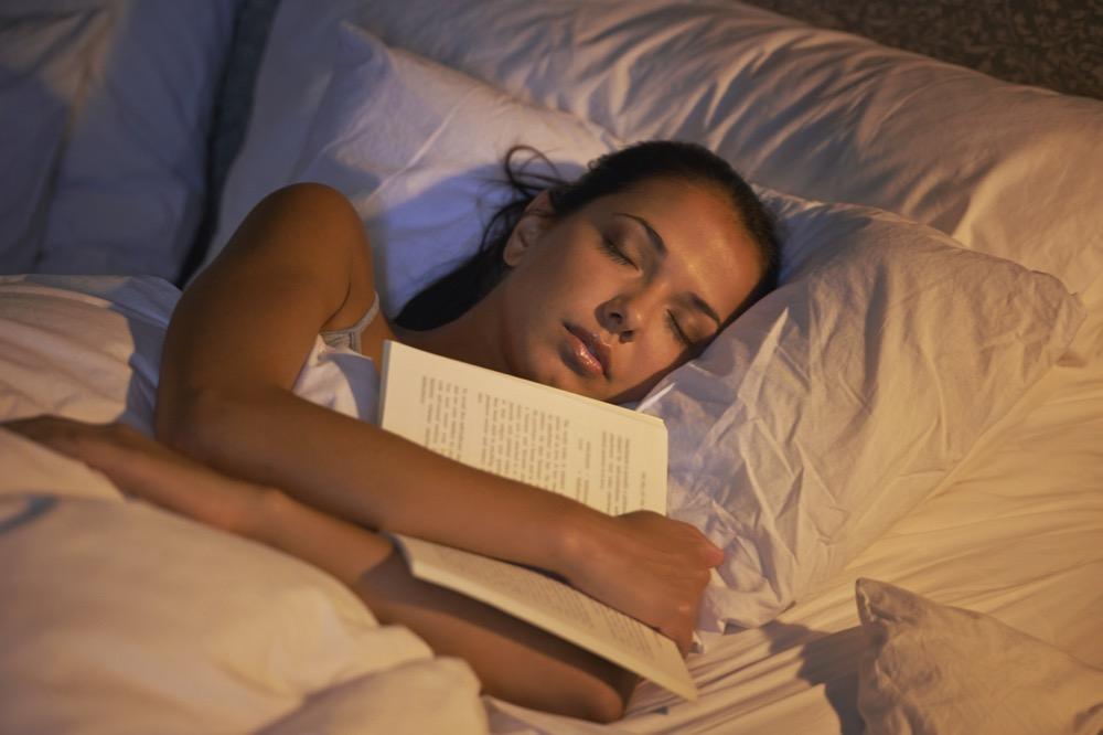 She fell asleep reading again
