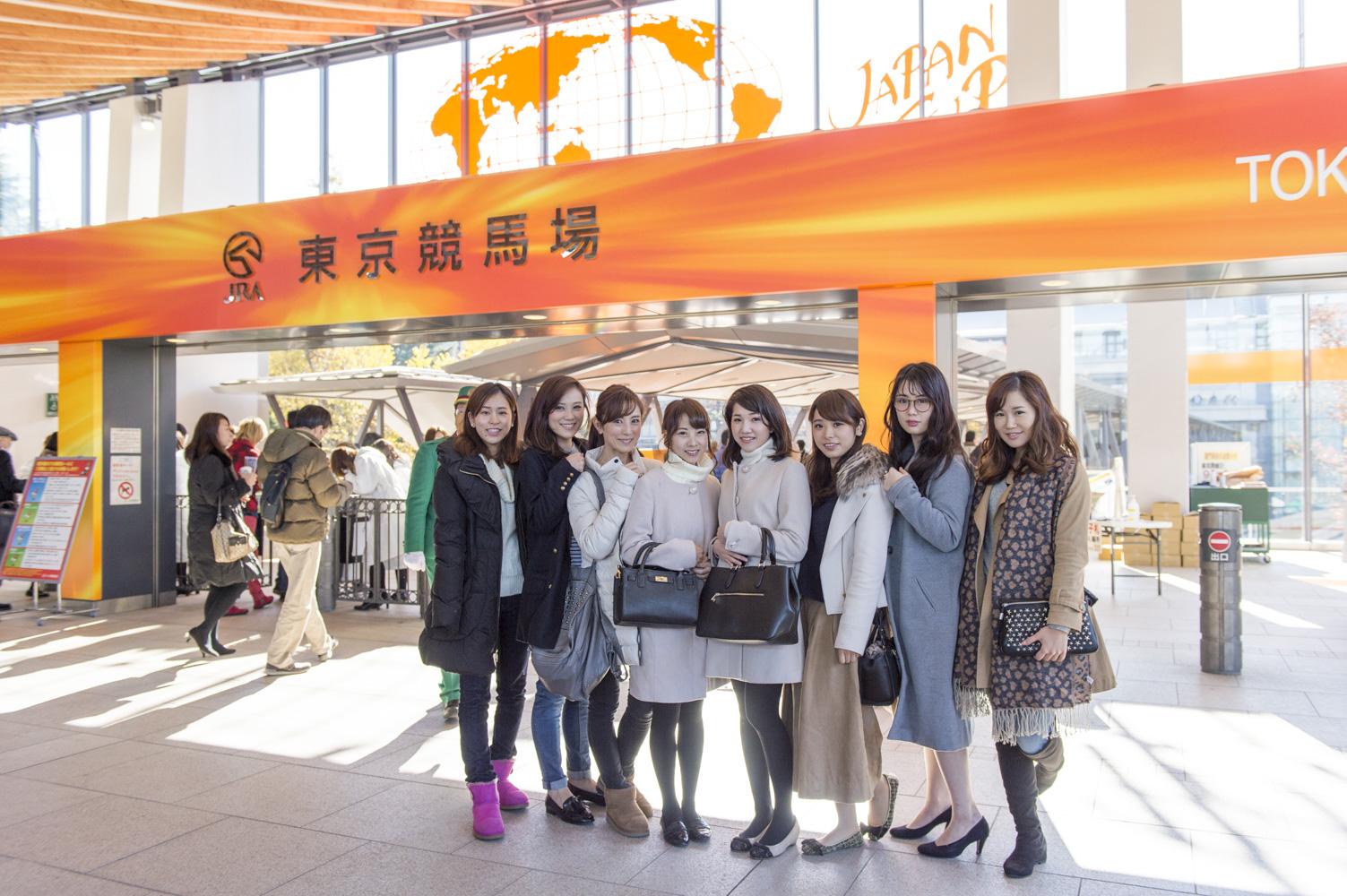 左から、荻野瀬里香さん(No.99)、大谷慶子さん(No.97)、大谷朋子さん(No.46)、滝沢晴香さん(No.231)、拝原利恵さん(No.206)、片桐優妃さん(No.115)、鈴木玲奈さん(No.128)、尾谷萌さん(No.63)。