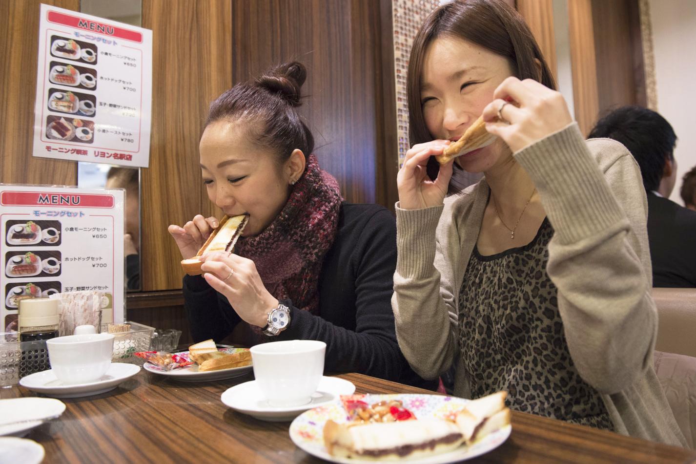 人生初の小倉トーストのお味は?