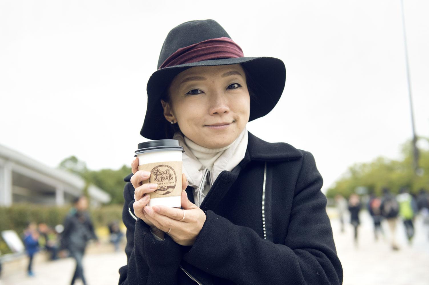 レアなコーヒーに出会えてご満悦の福田さん。