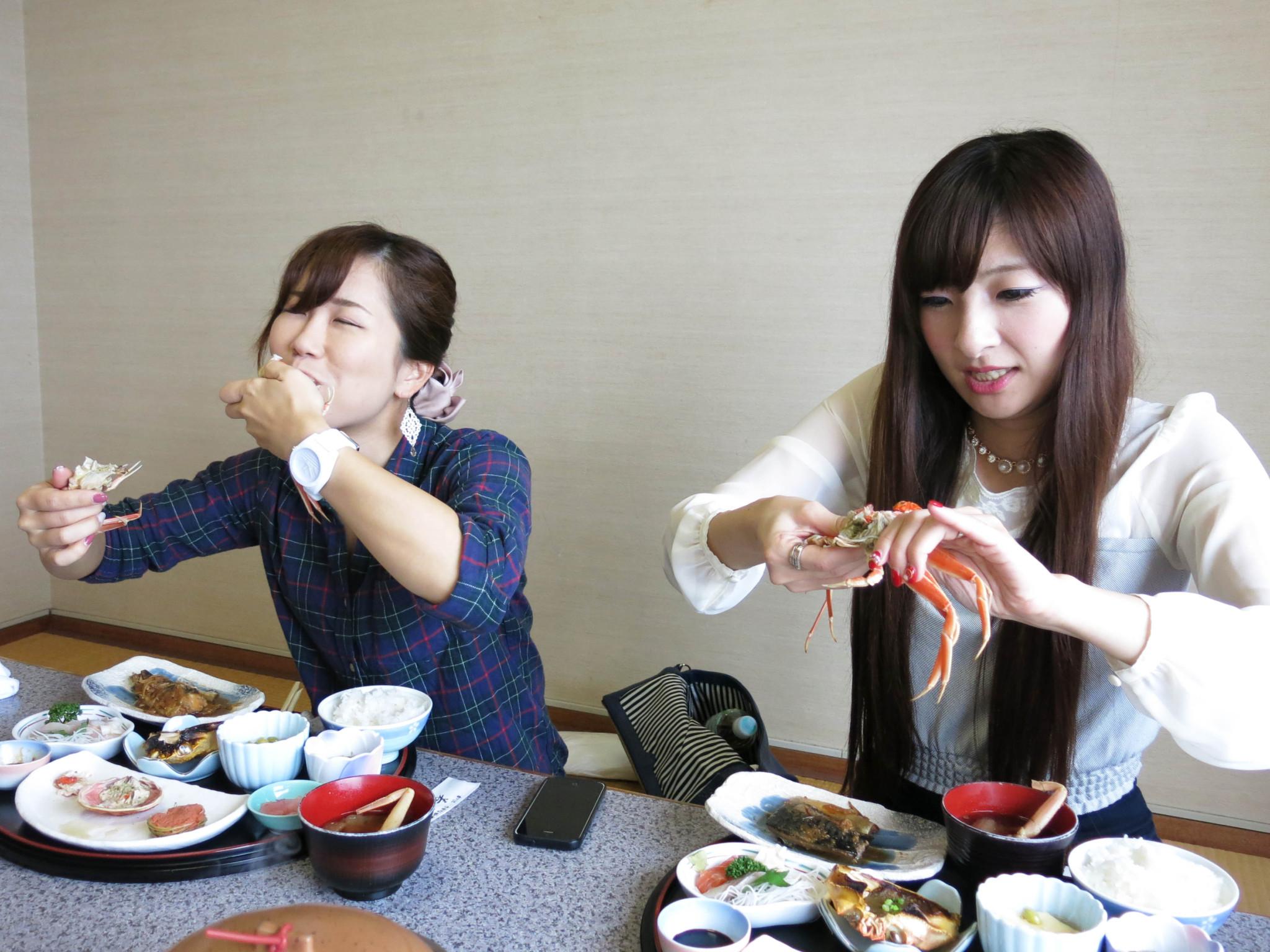 蟹を食べると無言になるって本当でした。