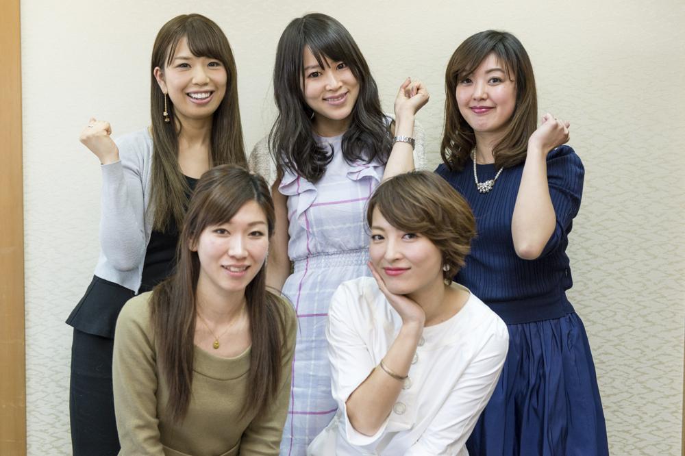 木下さん、中村さん、鷲巣さん、仲肥さん、浅香さん。