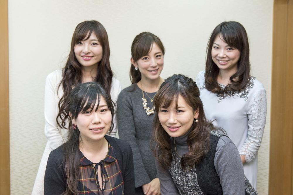 五位渕さん、野村さん、大谷さん、尾谷さん、柴本さん。
