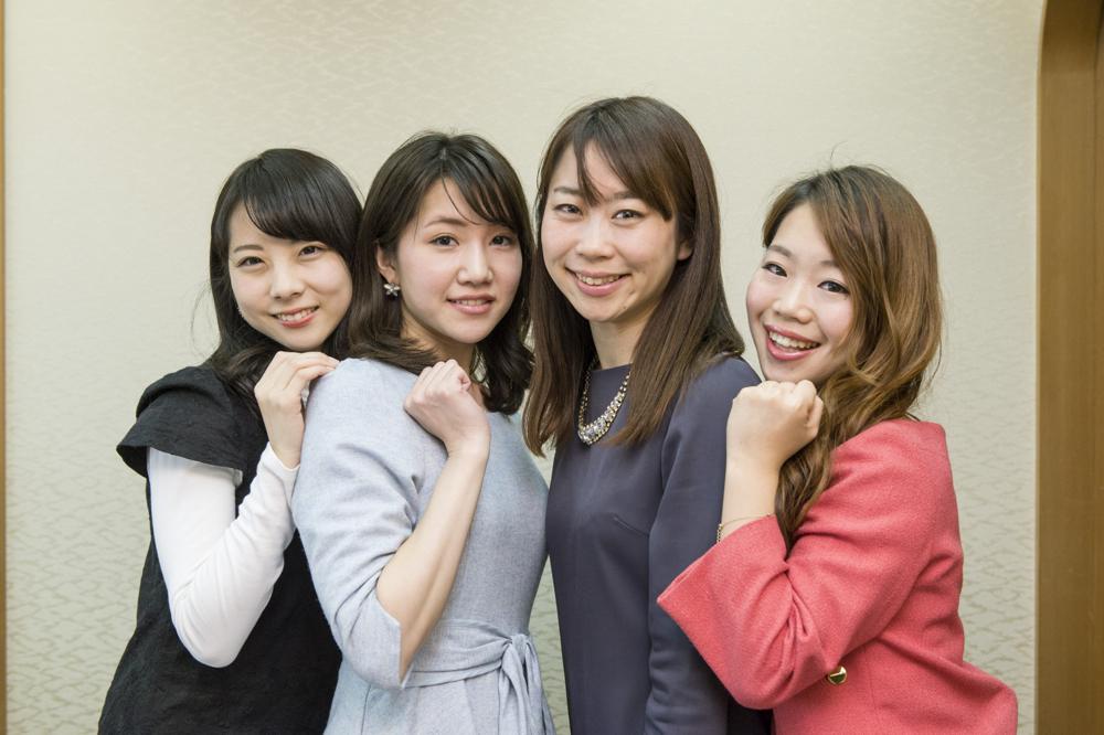 滝沢さん、拝原さん、浅井さん、遠藤さん。