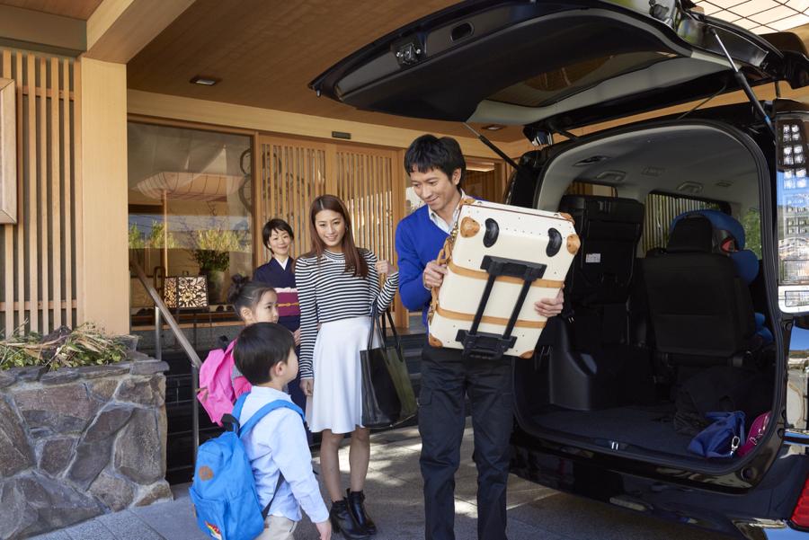家族旅行で荷物もいっぱい積み込める。