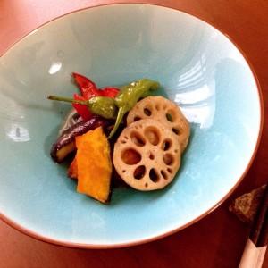 誰でも料理上手! なモテレシピ♪ Vol.8彩り野菜の揚げ浸し。