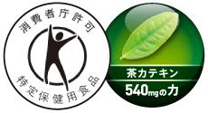 消費者庁許可 特定保健用食品 茶カテキン540mgの力