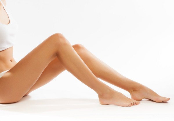 Perfect female legs, isolated on white background