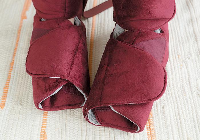 足先もフードで包まれていて温かい。