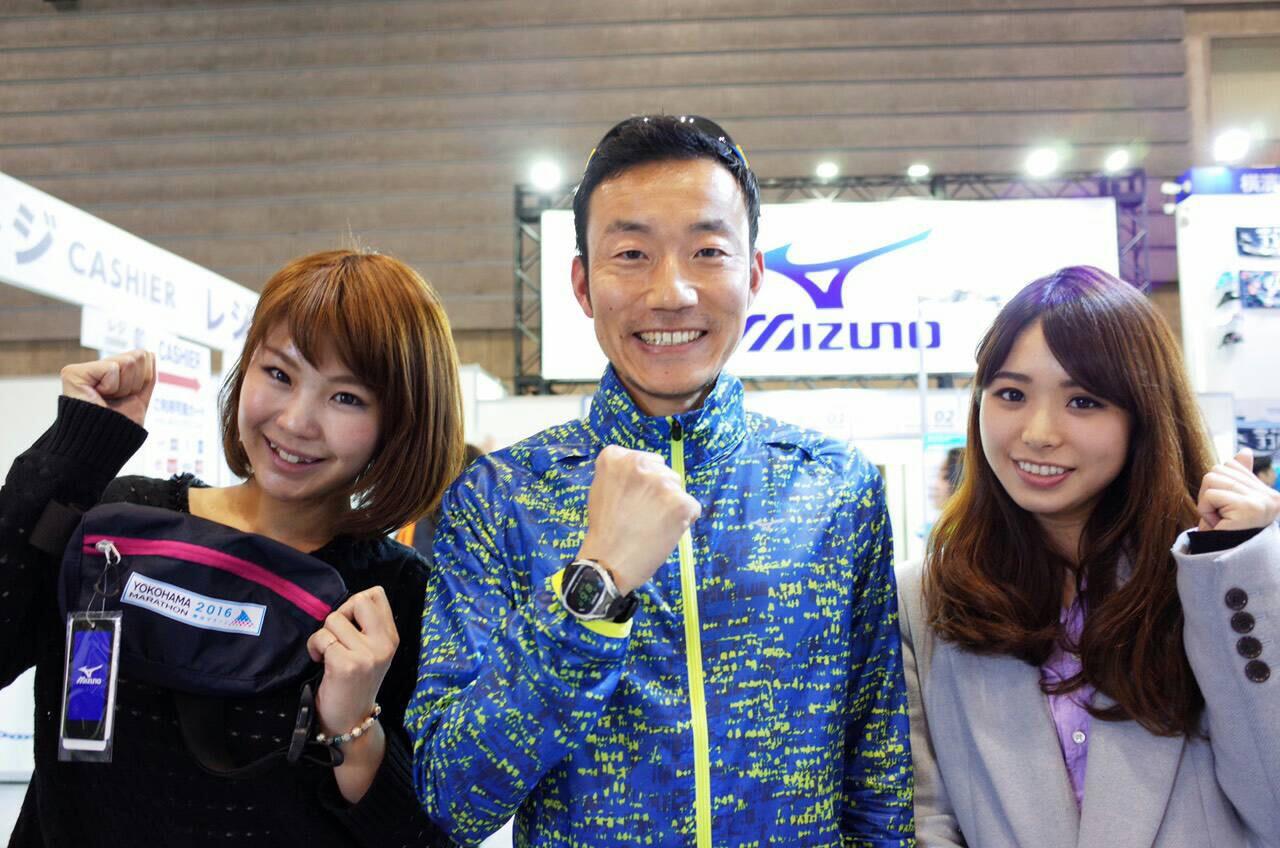 mizunoのポーチをゲット♪「大角コーチ! 完走できるか不安だけど……私たちがんばります!」