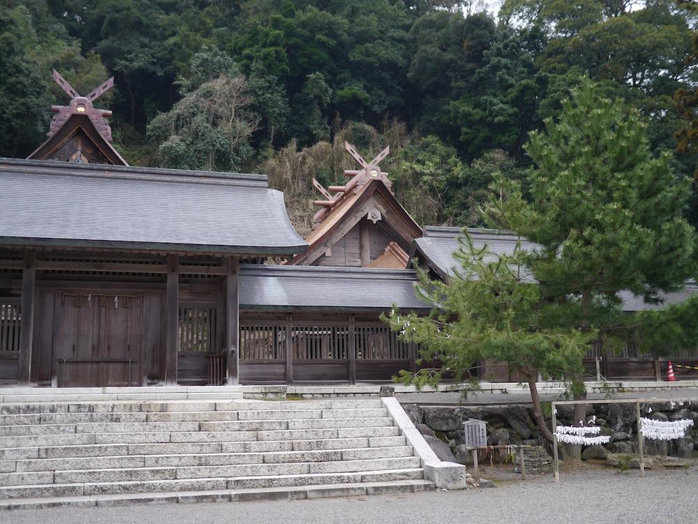 こちらが佐太神社。国の重要文化財にも指定されており、神在祭も行われる神社。