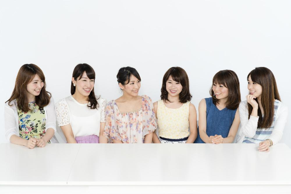 左から、井上あずささん(no.74)、櫻井智絵さん(no.155)、斉井夕絵さん(no.34)、こままりえさん(no.160)、北真理子さん(no.47)、片桐優妃さん(no.115)