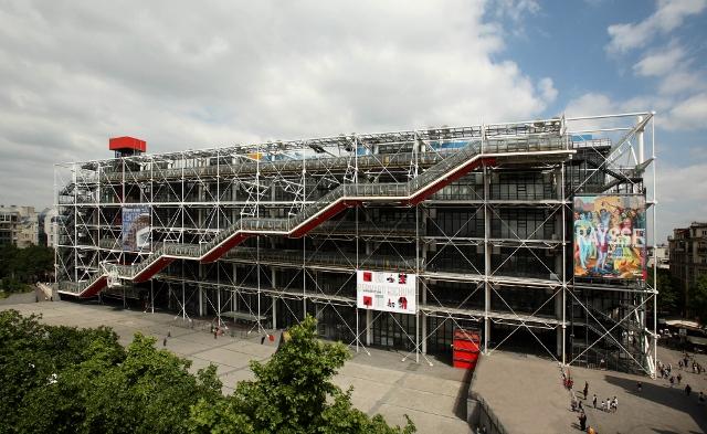 photo (c) Photo Philippe Migeat - Centre Pompidou. Architectes Renzo Piano et Richard Rogers. (640x393)