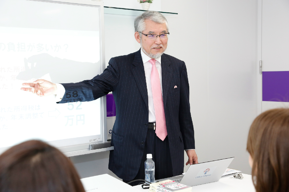 お金への賢い接し方を、実体験を交えて具体的に説明してくれた、「ファイナンシャルアカデミー」のカーネル・サンダースこと、大江英樹先生。