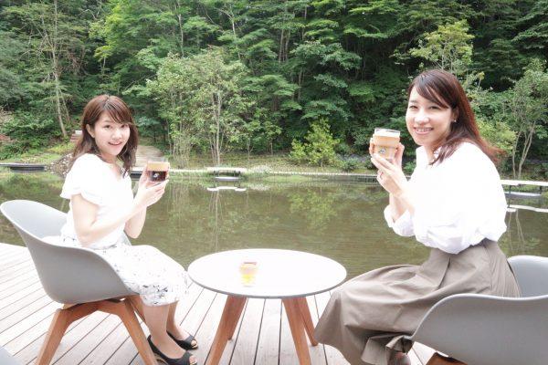 のどかな自然に囲まれて頂くコーヒーは最高!