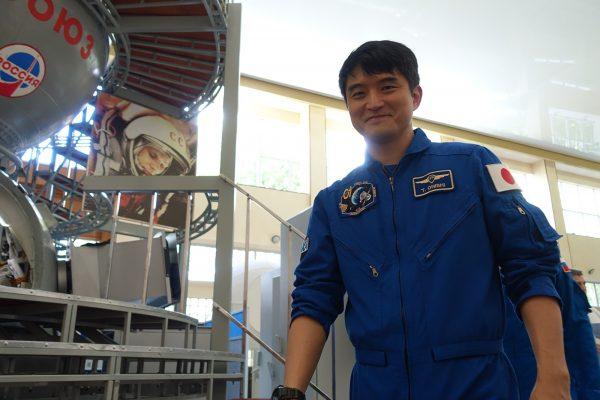 ソユーズ宇宙船最終試験後の大西卓哉宇宙飛行士