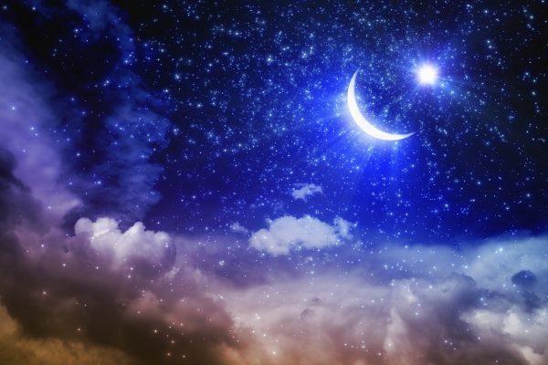 三日月と星